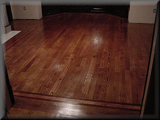 Red mahogany stain floor the colors of the stained