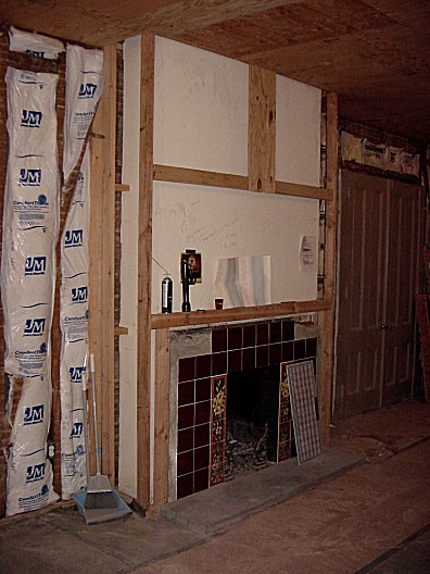 Perfect Framing Around Chimney Embellishment - Picture Frame Design ...