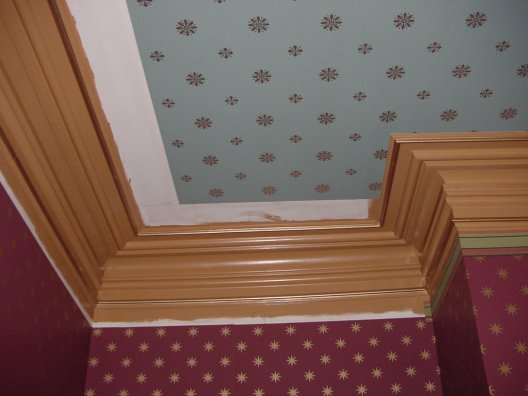 wallpaper border chair rail height